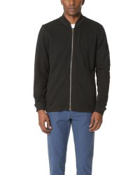 RVCA | Black Zip Thru Bomber Jacket for Men | Lyst