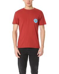 RVCA | Red Island Pocket Tee for Men | Lyst