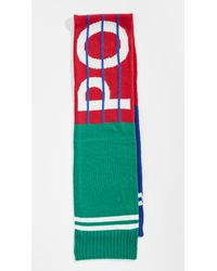 Polo Ralph Lauren - Green Bring It Back Stadium Scarf for Men - Lyst