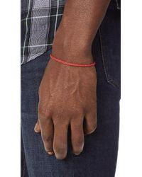 Scosha - Red Signature Slider Bracelet for Men - Lyst
