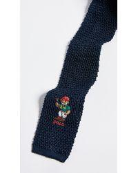 Polo Ralph Lauren - Blue Polo Player Bear Knit Tie for Men - Lyst