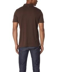 Billy Reid - Brown Smith Polo Shirt for Men - Lyst