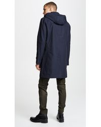 Club Monaco - Blue Mac Coat for Men - Lyst