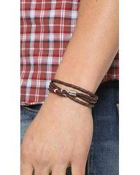 Miansai - Brown Trice Woven Leather Wrap Bracelet for Men - Lyst