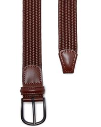 Andersons - Brown Stretch Woven Leather Belt for Men - Lyst