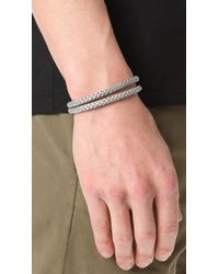 Miansai - Metallic Sterling Silver Ipsum Wrap Bracelet for Men - Lyst