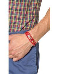 Miansai - Red Trice Woven Leather Wrap Bracelet for Men - Lyst