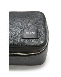 Jack Spade | Black Pebbled Leather Travel Kit for Men | Lyst