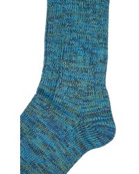 Anonymous Ism - Blue 5 Color Mix Crew Socks for Men - Lyst