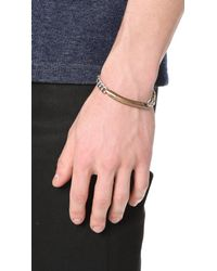 Giles & Brother - Metallic Id Chain Bracelet for Men - Lyst