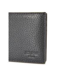 Jack Spade - Black Pebbled Leather Slim Billfold for Men - Lyst
