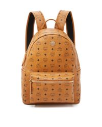 MCM - Brown Stark Medium Coated Canvas Backpack for Men - Lyst