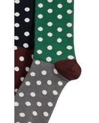 Paul Smith - Green Quad Polka Socks for Men - Lyst