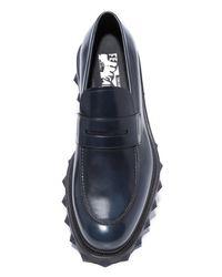 Ferragamo | Blue Darsen Leather Loafers for Men | Lyst