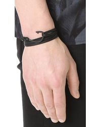 Miansai - Black Hook Leather Bracelet for Men - Lyst