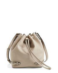 Tory Burch - Gray 'robinson' Saffiano Leather Bucket Bag - Lyst
