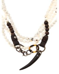 Beth Orduna - White Beaded Necklace - Lyst