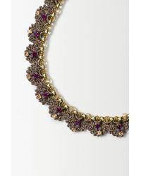 Anthropologie - Purple St Erasmus Crochet Gild Necklace - Lyst