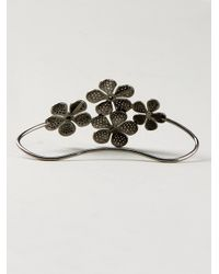 Colette | Black Pavé Diamond Hand Bracelet | Lyst