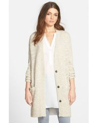 Trouvé | Natural Split Hem Cardigan | Lyst