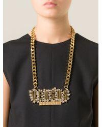 Versus | Metallic '' Necklace | Lyst