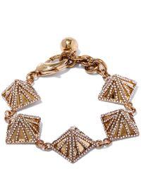 Lulu Frost | Metallic Gold-tone Apex Pave Bracelet | Lyst