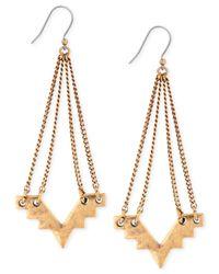 Lucky Brand | Metallic Geometric Chandelier Earrings | Lyst