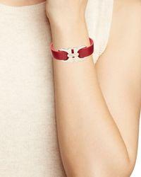Ferragamo - Red Double Gancini Single Wrap Bracelet - Lyst