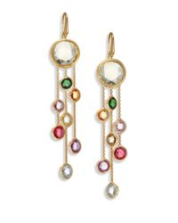 Marco Bicego | Metallic Jaipur Semi-precious Multi-stone & 18k Yellow Gold Three-strand Drop Earrings | Lyst