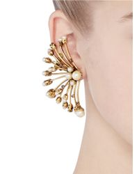 Erickson Beamon | Metallic 'stratosphere' Pearl Crystal Branch Ear Cuffs | Lyst
