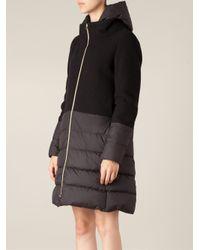 Herno - Black Padded Coat - Lyst
