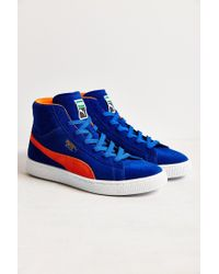 PUMA | Blue Suede Classic Mid Jr Sneaker | Lyst