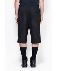 3.1 Phillip Lim - Black Tapered Short With Knit Waistband for Men - Lyst