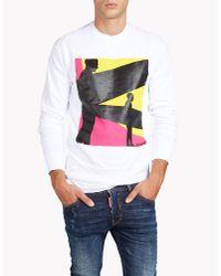 DSquared² - White Dean Fit Sweatshirt for Men - Lyst