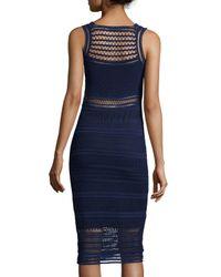 Ohne Titel - Blue Sleeveless Crochet-knit Sheath Dress - Lyst