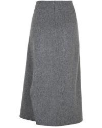 Nicole Farhi | Gray The Brohan Skirt | Lyst