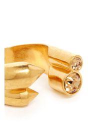 Alexander McQueen   Metallic Crystal Stud Ring   Lyst