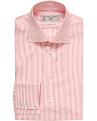 Turnbull & Asser | Pink Bengal Stripe Slim-fit Single-cuff Shirt - For Men for Men | Lyst