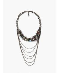 Mango | Metallic Mixed Bead Necklace | Lyst