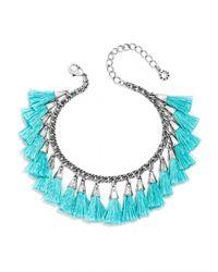 BaubleBar | Blue Festival Tassel Bracelet | Lyst