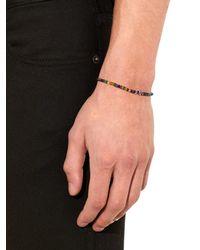 Luis Morais - Multicolor Bead And White-Gold Bracelet for Men - Lyst