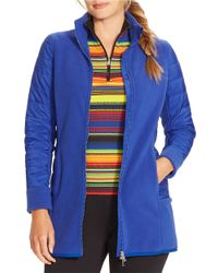 Lauren by Ralph Lauren | Blue Plus Fleece Jacket | Lyst