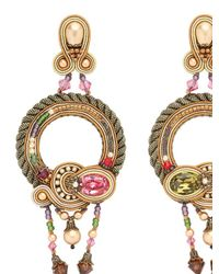 Dori Csengeri | Metallic Baroque Earrings | Lyst