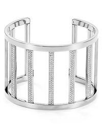 Michael Kors - Metallic Pave Bars Open Cuff - Lyst