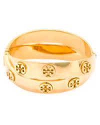 Tory Burch - Metallic Double Logo Bracelet - Lyst