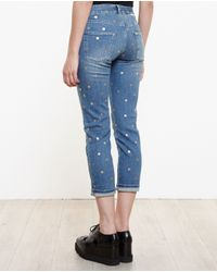 Stella McCartney - Blue Polka-dot Boyfriend Jeans - Lyst