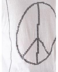 Julien David - White Peace Graphic Tshirt for Men - Lyst