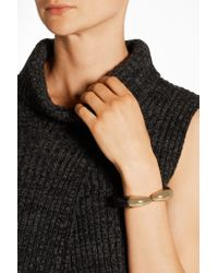 Kenneth Jay Lane - Metallic Resin And Gold-plated Cuff - Lyst