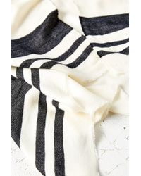 Urban Outfitters | Black Blanket Stripe Toggle Poncho | Lyst