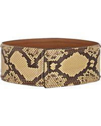 Marni - Black Python Wide Belt - Lyst